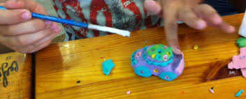 Машина-цветок из пластилина — Центр Яблонька, Калининград