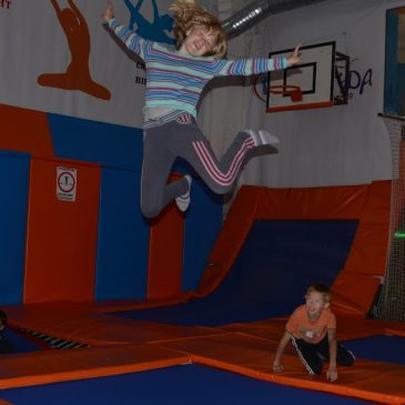 "Visiting the trampoline center ""Amplitude"""
