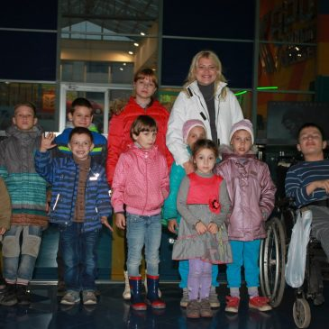 "We together with the younger staff of ""Yablonka""  visited cinema ""Karo Film""!"