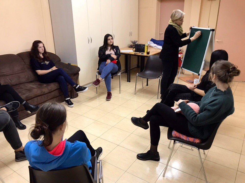 Every Tuesday our centre hosts educational meetings with teenagers